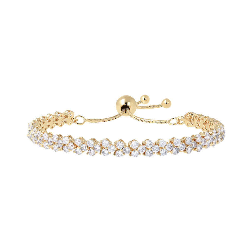 Bracciale Friendship Tennis Doppio Bronzallure Yellow Gold