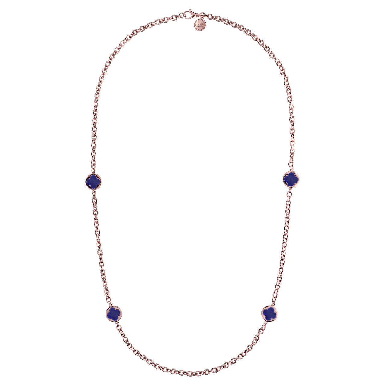 Stationary Necklace LAPIS from above