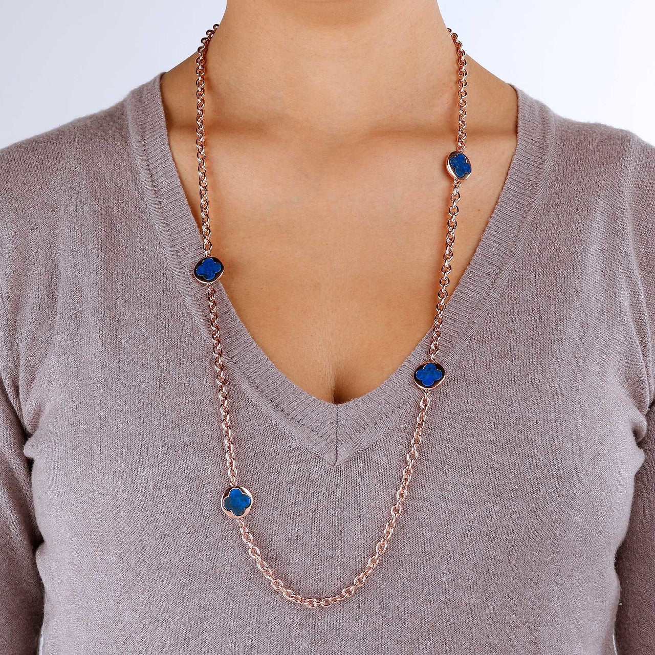 worn Stationary Necklace LAPIS