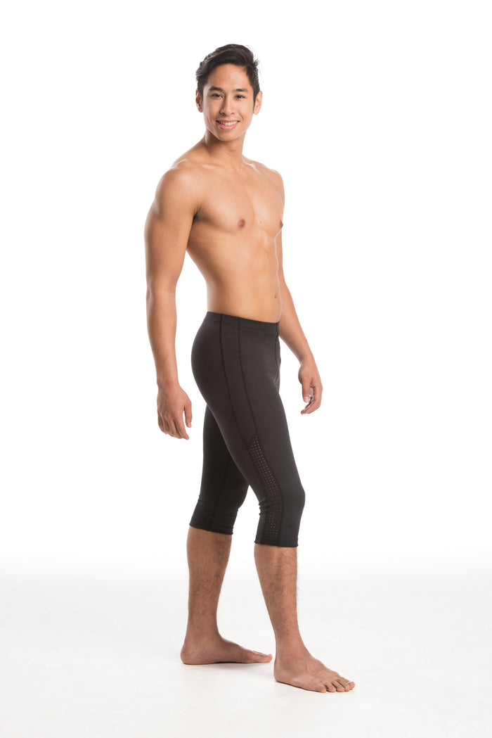 mens black footless ballet tights