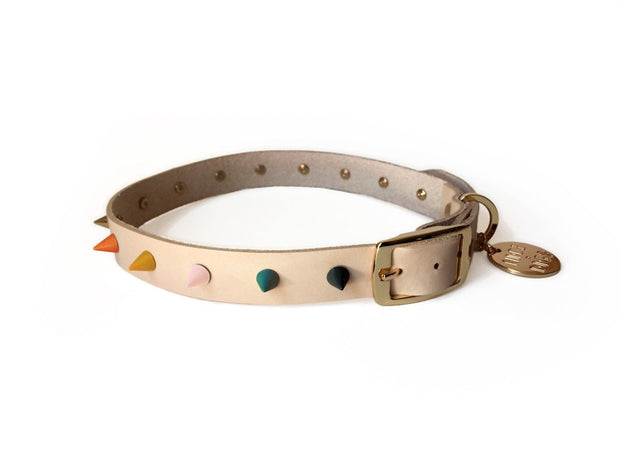 Spike Collar in Jaded Rose, Collars, Nice Digs, - Winnie Lou - The Canine Company