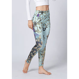 Peacock Elastic Yoga Pants - Fits4Yoga