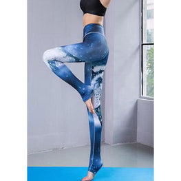 Wolf High Elasticity Printed Yoga leggings | Susie