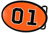 Orange 01 Belt Buckle