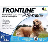 FRONTLINE Plus for Medium Dogs (23-44 lbs) Flea and Tick Treatment, 6 Doses