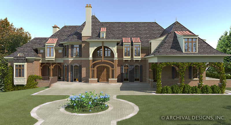 Chateau De La Ravinere House Plan