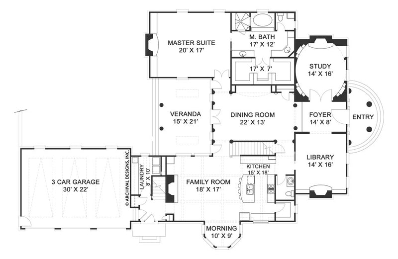 Pollard first floor, floor plan