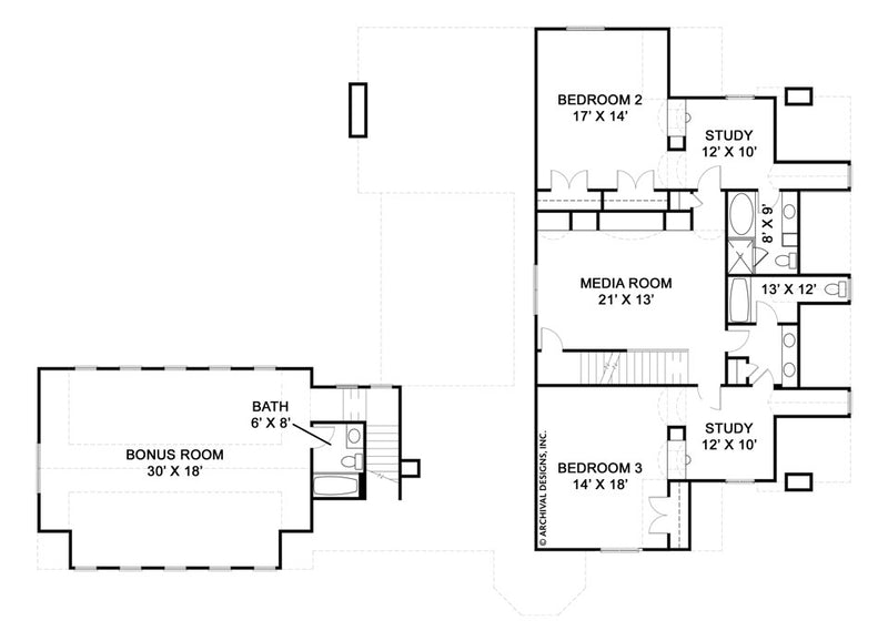 Pollard second floor, floor plan