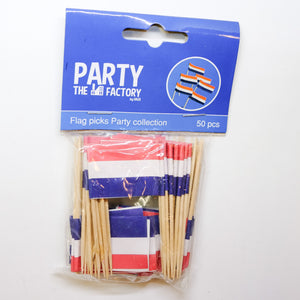 The Party Factory  Flag Pricks 50pcs