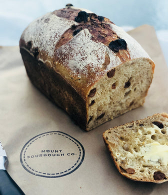Spiced Fruit Sourdough Loaf