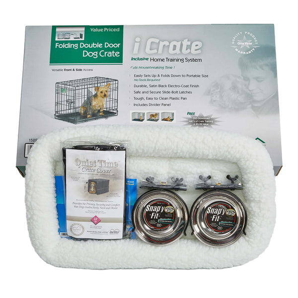 "Midwest iCrate Dog Crate Kit Extra Small 22"" x 13"" x 16""-Dog-Midwest-PetPhenom"