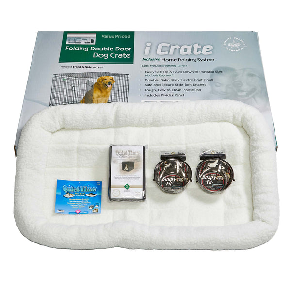 "Midwest iCrate Dog Crate Kit Extra Large 42"" x 28"" x 30""-Dog-Midwest-PetPhenom"