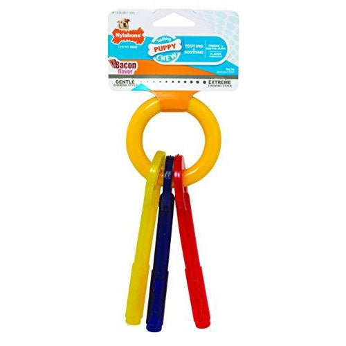 Nylabone Puppy Chew Teething Keys, Small-Dog-Nylabone-PetPhenom