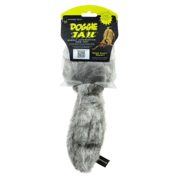 "Hyper Pet Doggie Tail Dog Toy Gray 9.5"" x 6"" x 3.25""-Dog-Hyper Pet-PetPhenom"