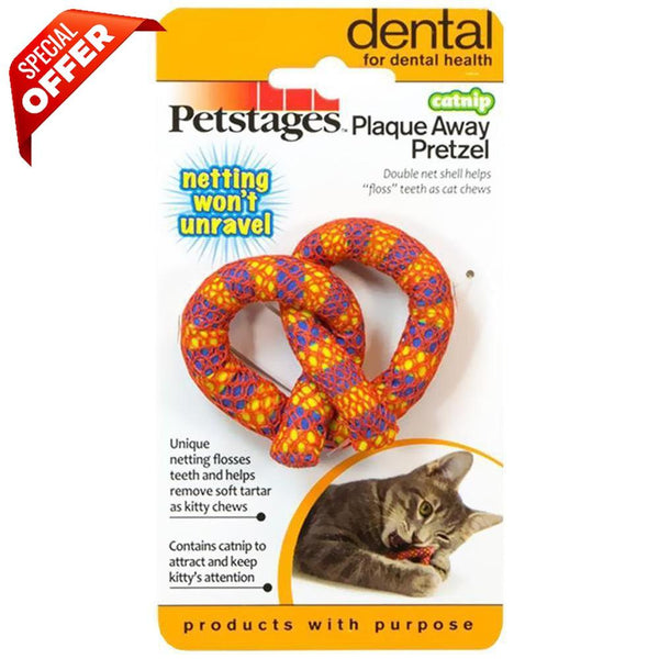 Petstages Catnip Plaque Away Pretzel-Cat-Petstages-PetPhenom