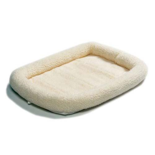 "Midwest Quiet Time Fleece Dog Crate Bed White 30"" x 21""-Dog-Midwest-PetPhenom"