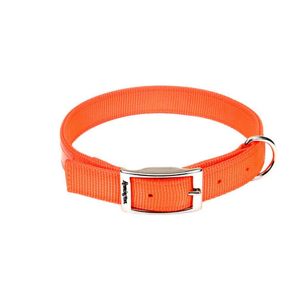 "Remington Double-Ply Reflective Hound Dog Collar Orange 22"" x 1"" x 0.2""-Dog-Remington-PetPhenom"
