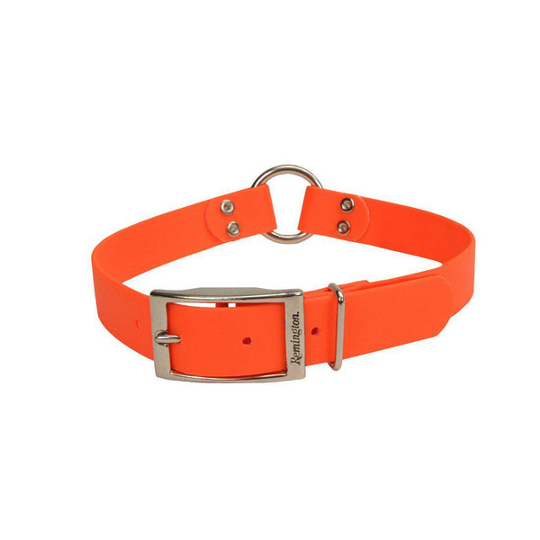 "Remington Waterproof Hound Dog Collar with Center Ring Orange 18"" x 1"" x 0.2""-Dog-Remington-PetPhenom"
