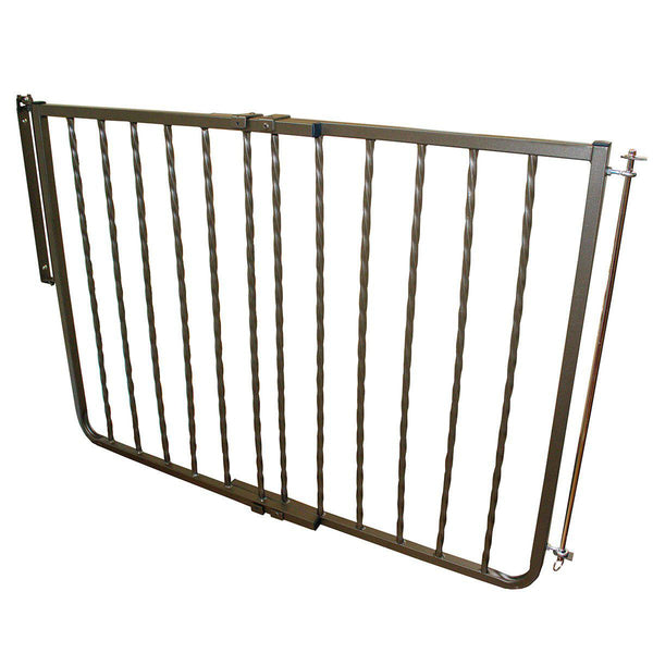 "Cardinal Gates Wrought Iron Decor Hardware Mounted Pet Gate Extension Bronze 10.5"" x 1.5"" x 29.5""-Dog-Cardinal Gates-PetPhenom"