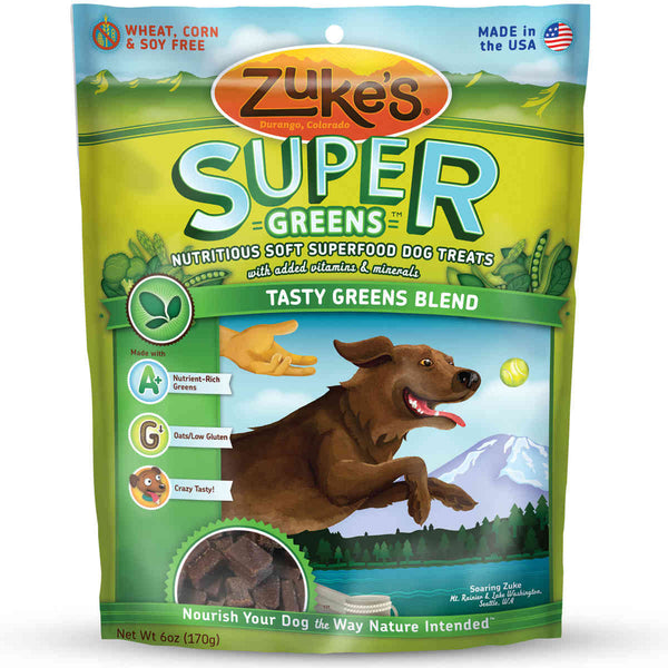 Zuke's Supers All Natural Nutritious Soft Superfood Dog Treats Tasty Greens 6 oz.-Dog-Zuke's-PetPhenom