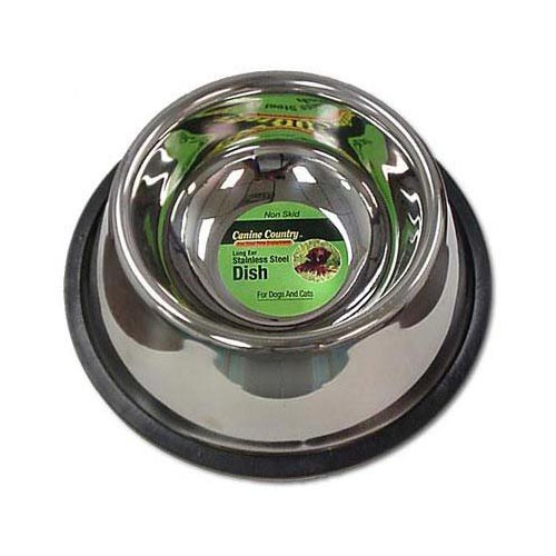 "PetEdge No-Tip Non-Skid Stainless Steel Bowl 24oz. 6"" x 6"" x 2""-Dog-PetEdge-PetPhenom"