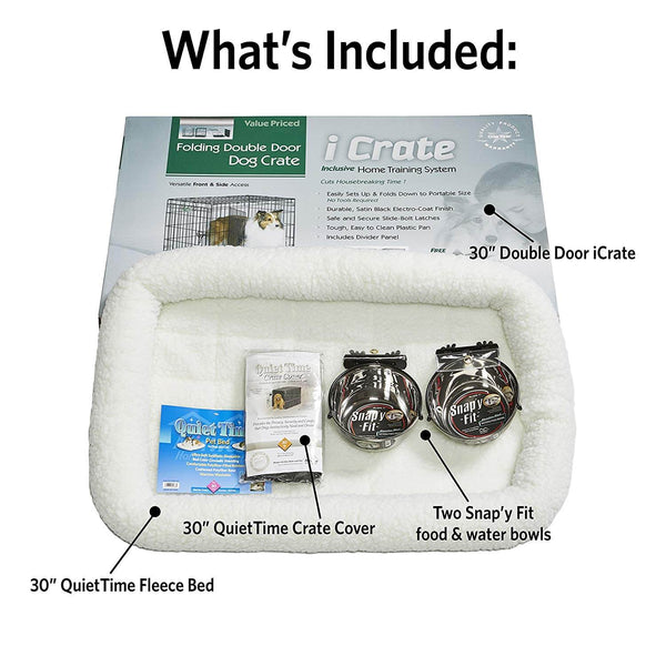 "Midwest iCrate Dog Crate Kit Medium 30"" x 19"" x 21""-Dog-Midwest-PetPhenom"