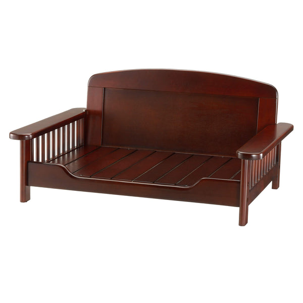 "Richell Elegant Wooden Pet Bed Dark Brown 35.4"" x 24.4"" x 16.9""-Dog-Richell-PetPhenom"