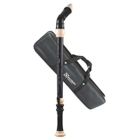 604B - Recorder Workshop bass recorder and bag - black with white trim Default title