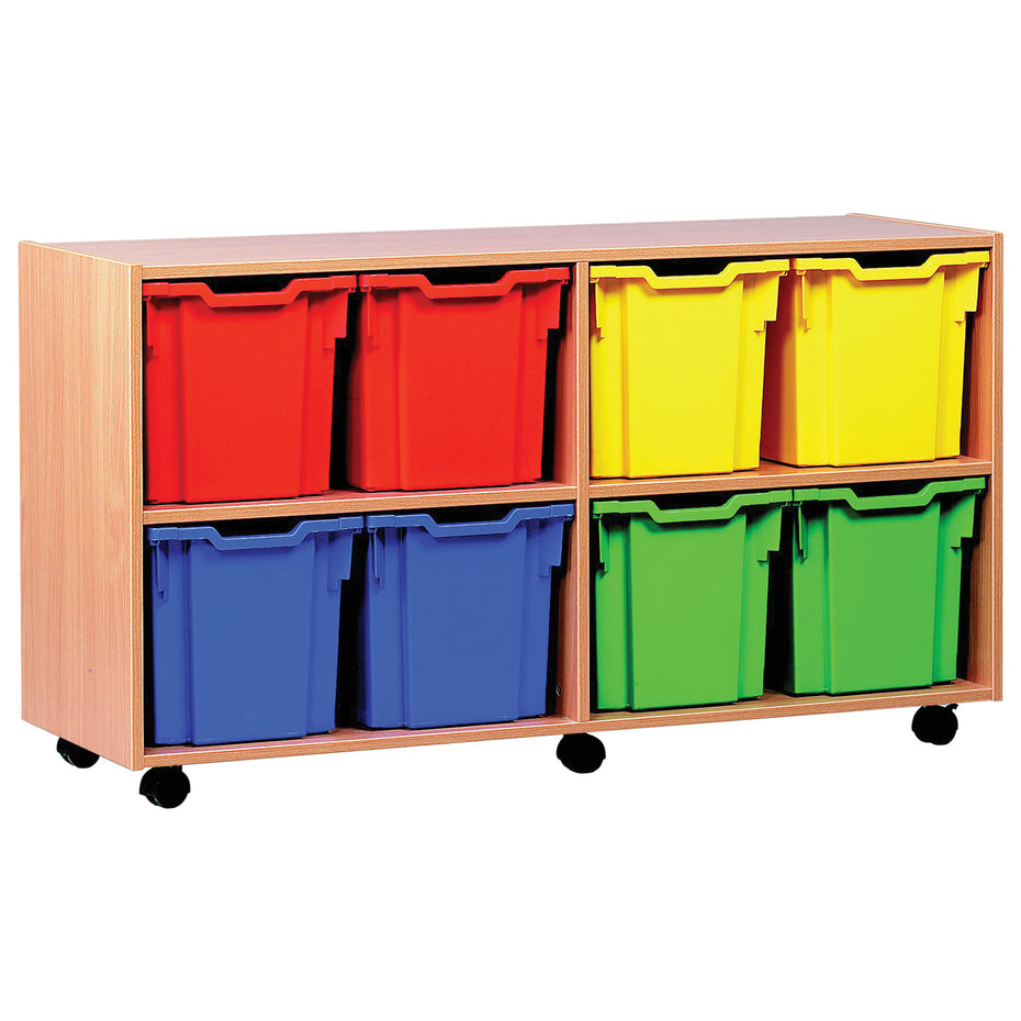 MEQ1021 - Classroom storage unit with 8 jumbo trays Default title