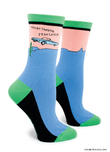 Anne Taintor Crew Socks ~ Thelma and Louise