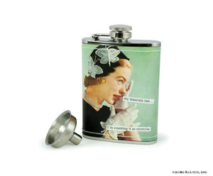 "Anne Taintor Flask ""mascara"""