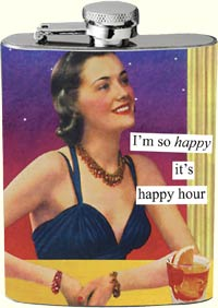 Anne Taintor Flask - Happy Hour