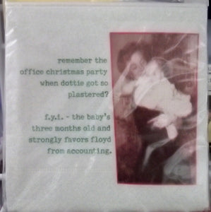 """remember the office christmas party"" cocktail napkins ~ MikWright"