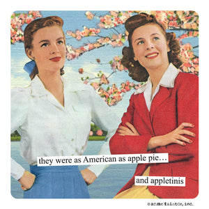 "Anne Taintor Magnet, ""appletinis"""