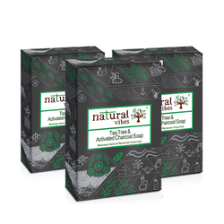 Natural Vibes Tea Tree & Activated Charcoal Soap 150 gm