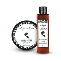 Singh Styled Combo Of Beard Setter Ultra Beard Hold And Beard And Hair Wash