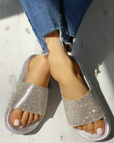 Must Adventure Gold/Silver Sandals - RishWish