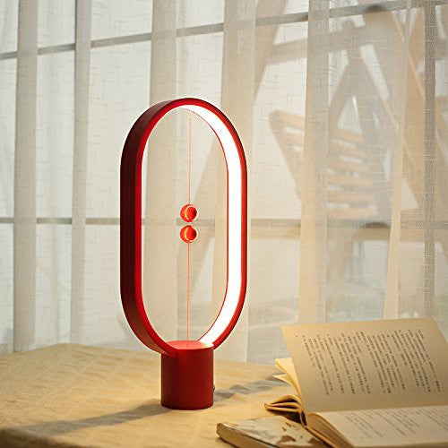 Heng Balance Magnetic Switch LED Lamp - Ellipse ( RED PLASTIC )