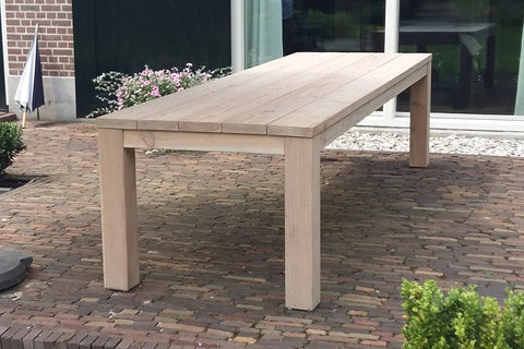 Tuintafel Basic, Douglashout Grey Wash (woodoil)