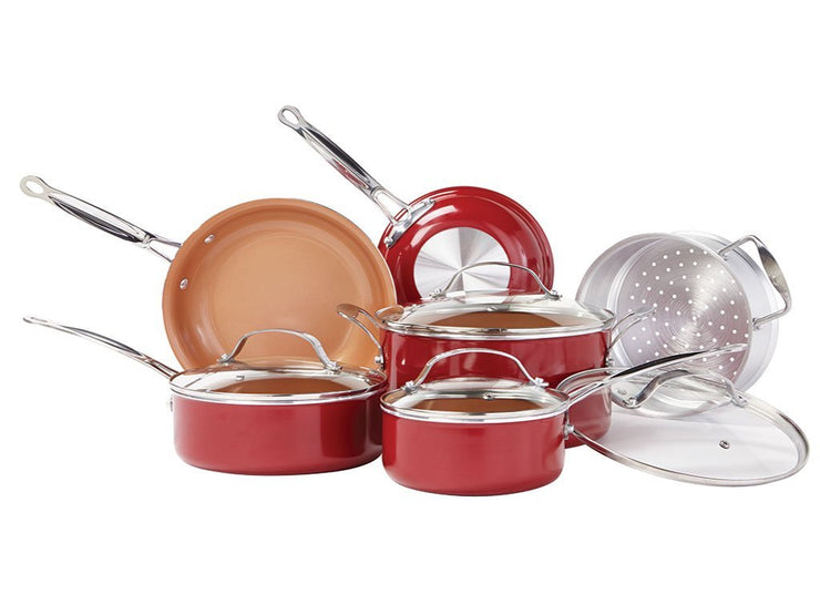 Red Copper 10 Piece Set - TVShop