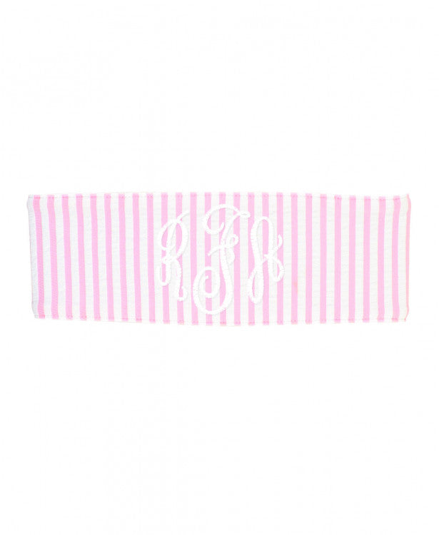 Pink Seersucker Swimwear Headband