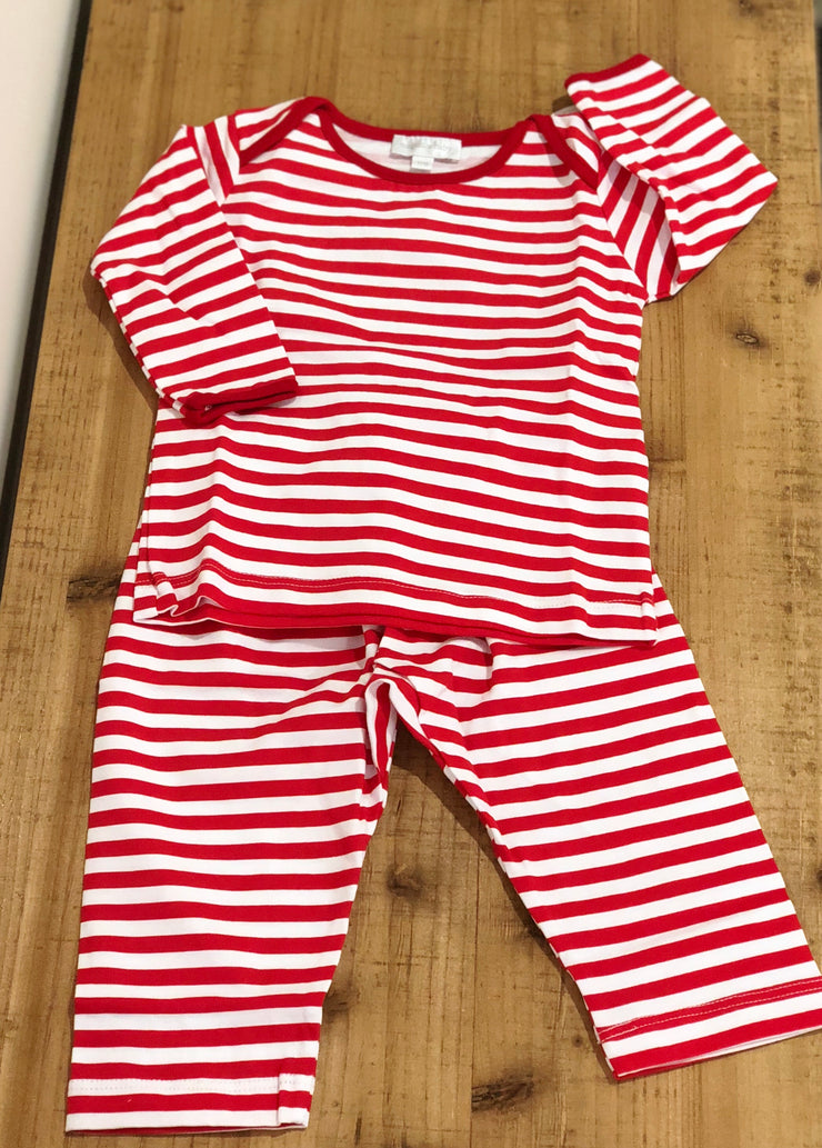 Red Striped 2Cpc Pant Set