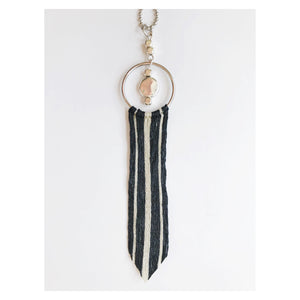 Silver Lining Tassel Pendant Necklace