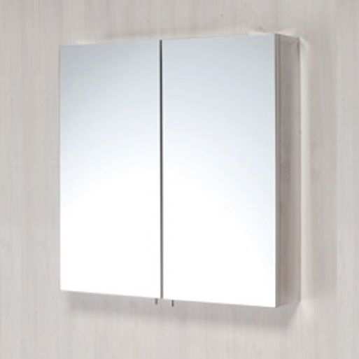 Stainless Steel Double Door Mirrored Bathroom Cabinet - Leeds Clearance Bathrooms