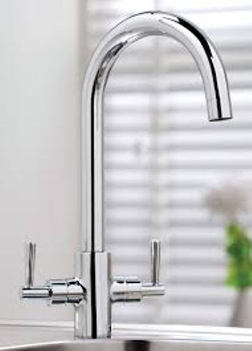 Kingston Chrome Modern Swivel Spout Kitchen Sink Mixer Tap - Leeds Clearance Bathrooms