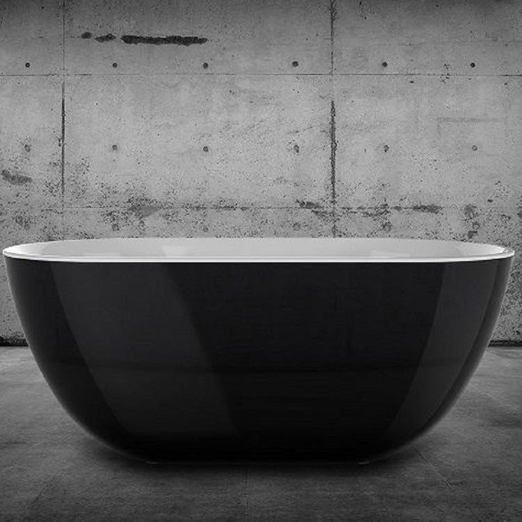 CHARLOTTE EDWARDS 1500 BLACK MAYFAIR FREESTANDING BATH - Leeds Clearance Bathrooms