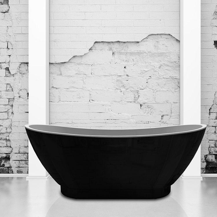 Charlotte Edwards Black Richmond Freestanding Bath - Leeds Clearance Bathrooms