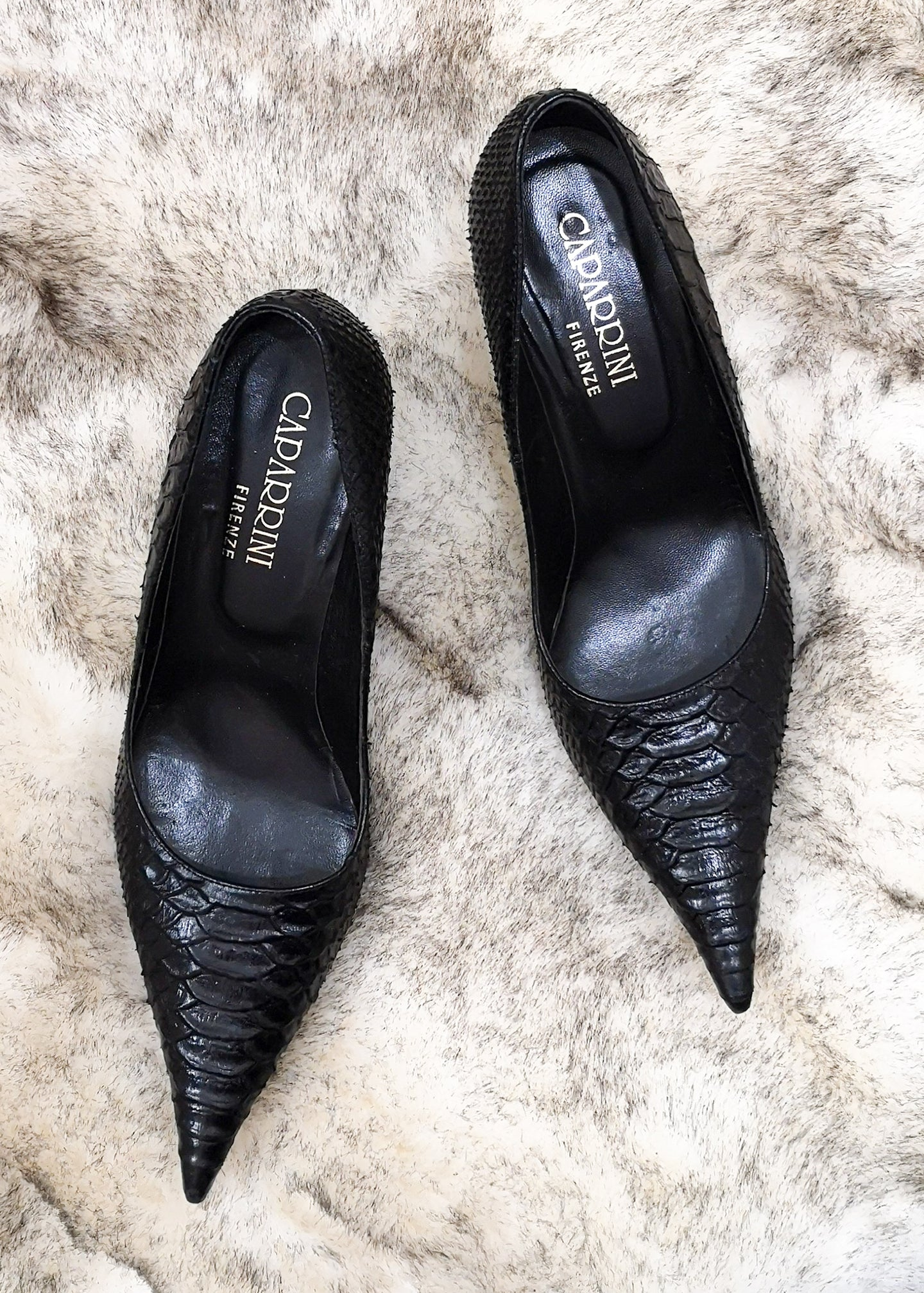 Pointed Toe Pump by Caparrini Firenze
