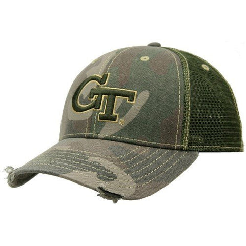 Georgia Tech Yellow Jackets Camo Mesh Deliverance Hat