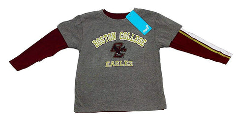 Outerstuff Boston College Eagles Gen 2 Boy's Long Sleeve and T-Shirt Bundle